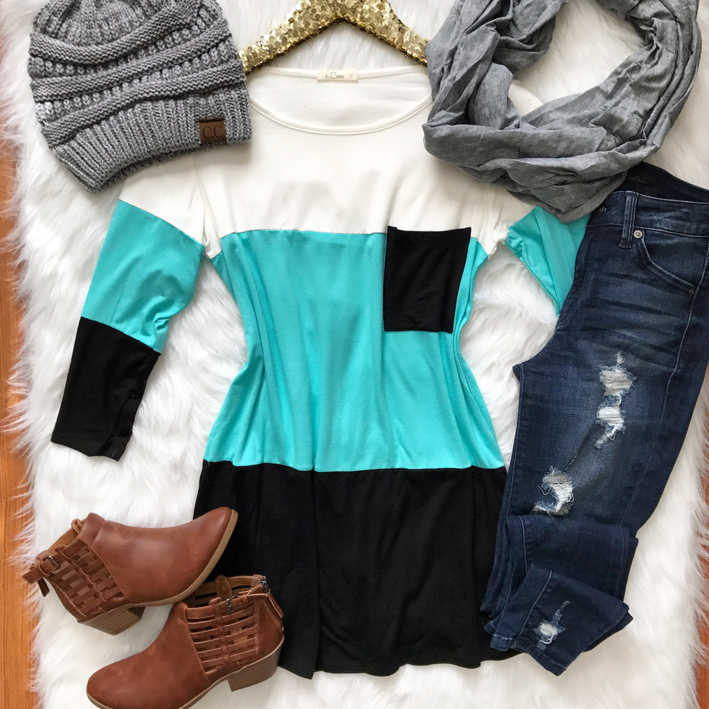 Ever After Color Block Top - Collette
