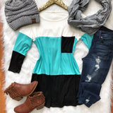 Ever After Color Block Top - Collette's Closet Boutique