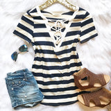 Blissful Days Striped Top - Collette's Closet Boutique