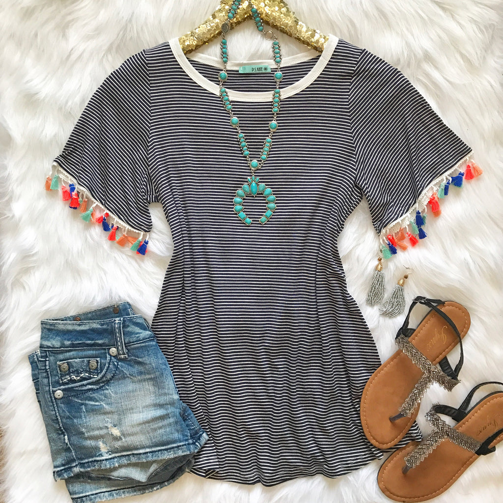 Bring The Fun Tassel Top - Collette
