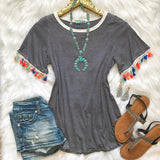 Bring The Fun Tassel Top - Collette's Closet Boutique