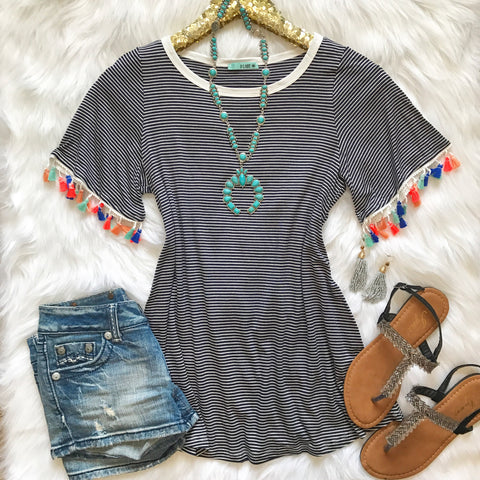 Bring The Fun Tassel Top