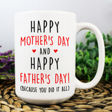 Happy Mother's Day And Happy Father's Day Because You Did It All - Happy Father's Day 2020