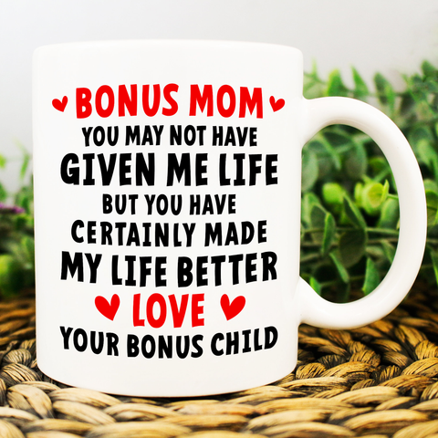 Badass Bonus Mom, Happy Mother's Day From Your Bonus Child - Happy Father's Day 2020
