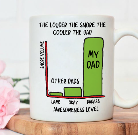 The Louder The Snore The Cooler The Dad Mug - Happy Father's Day 2020