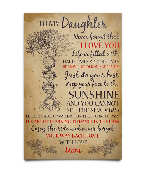 To My Daughter Poster - Meaningful Message From Mom - Happy Father's Day 2020