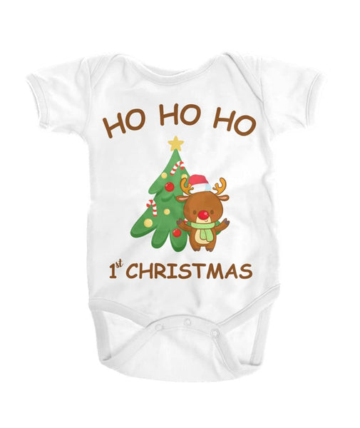 Hohoho First Christmas Reindeer Shirt For Baby - christmas 2019
