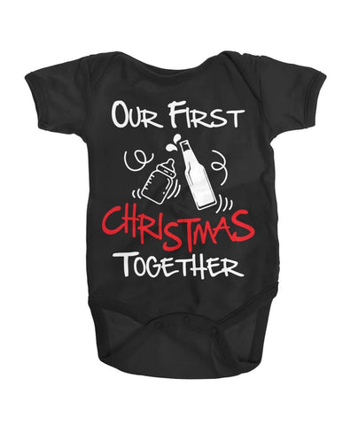 Our First Christmas Together - Matching Dad and Son Shirt - christmas 2019