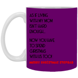 Merry Christmas Stepdad Mug - Happy Father's Day 2020