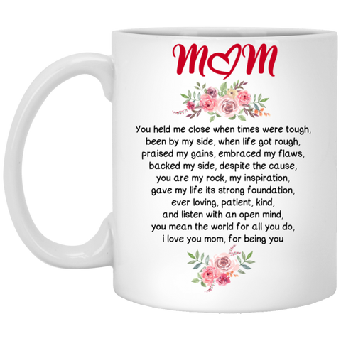 Mom held me close Mug - Happy Father's Day 2020