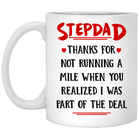 Stepdad Running A Mile Mug - Happy Father's Day 2020
