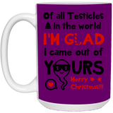 Of All Testicles In The World Merry Xmas Mug - Gag Ideas For Dad - Happy Father's Day 2020