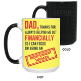 Thank Dad Mug - Happy Father's Day 2020