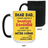 The Perfect Christmas Present For Dad - Financial Burden Daughter - Happy Father's Day 2020