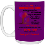 To my gorgeous wife Mug - Happy Father's Day 2020