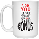 Funny Gift For Boyfriend Mug - I Love Your Cock - Happy Father's Day 2020