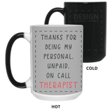 Unpaid Therapist Mug - Happy Father's Day 2020