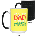 Proud Dad Christmas Mug From Awesome Daughter - Happy Father's Day 2020