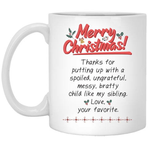 Merry Christmas Parents Mug - Happy Father's Day 2020