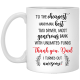 Christmas Mug Thank Awesome Dad - Happy Father's Day 2020
