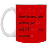 Endure Your Farts Merry Christmas Mug - christmas 2019