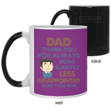 Thanks For Being Less Disappointed Mug - Happy Father's Day 2020