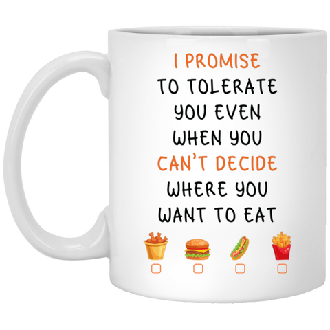 Noel Gift For Couples Husband and Wife - Promise to tolerate Mug - Happy Father's Day 2020
