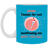 Thanks Not Swallowing Me Mug - Cute Sperm Christmas Gift Ideas For Moms - Happy Father's Day 2020