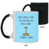 Funny Christmas Mug for Father - Entered Me Into A Race - Happy Father's Day 2020