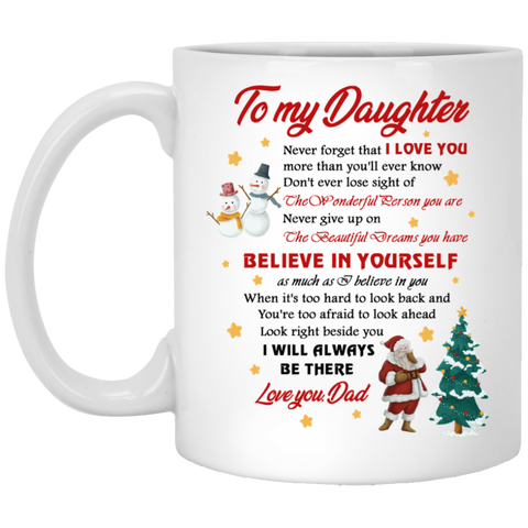 Unique Christmas Gift Ideas - To My Daughter Mug - Happy Father's Day 2020