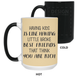 Having Kids Mug - christmas 2019