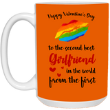 To The Second Best Girlfriend - LGBT Couples Mug Set - Happy Father's Day 2020