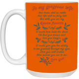 To my gorgeous wife Mug - christmas 2019