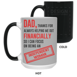 Thank Dad Mug - Not The Worst Gift