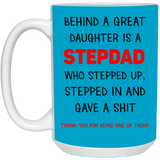 Funny Christmas Gift For StepDad - Behind A Great Daughter - christmas 2019