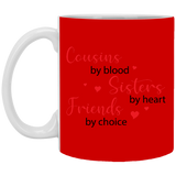 Cousins by blood Christmas Mug - Happy Father's Day 2020
