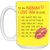 Cute Gift For Husband - I Love You Because mug - christmas 2019