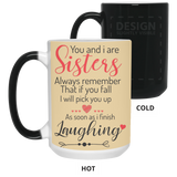 You and I are sisters Mug - Happy Father's Day 2020