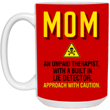 Unpaid Therapist Mug - Funny Gift For Mom - Happy Father's Day 2020