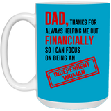 Thank Dad Mug - christmas 2019