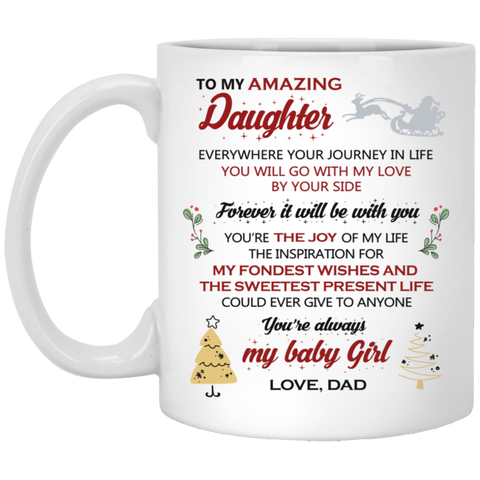 To My Amazing Daughter Mug - Happy Father's Day 2020