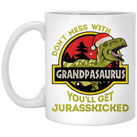 Grandpasaurus Christmas Gifts For Grandpa Mug - christmas 2019