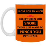 I love you except for your snoring Mug - Happy Father's Day 2020