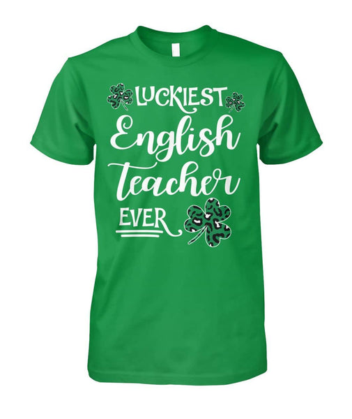 Luckiest English Teacher Shirt - Happy Father's Day 2020