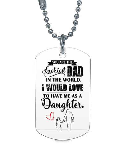 Gift For Dad Dog Tag - Happy Father's Day 2020