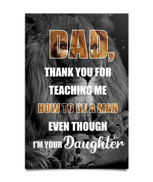 Gift For Dad From Daughter Canvas Poster - christmas 2019