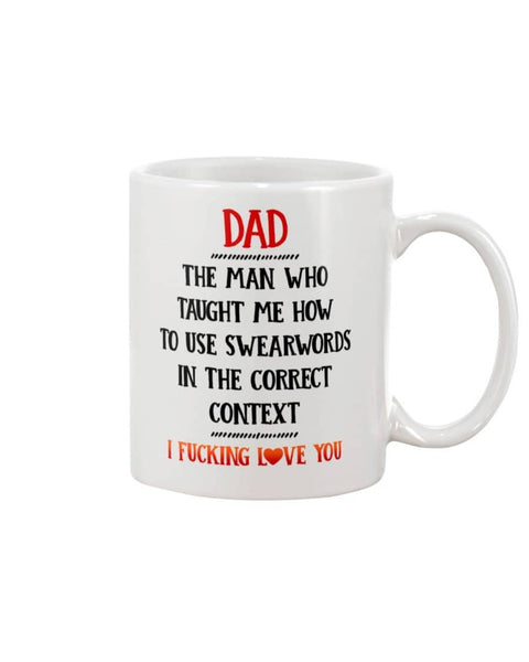 Swearwords In The Correct Context Mug - Happy Father's Day 2020