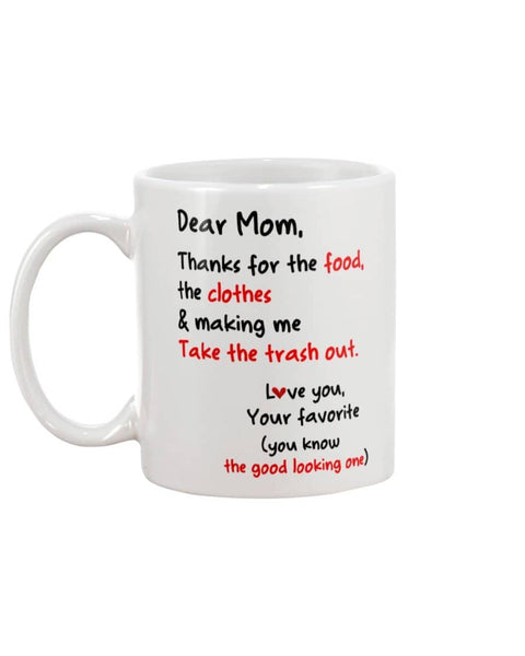 Mom Thanks For Food Clothes Mug - Happy Father's Day 2020