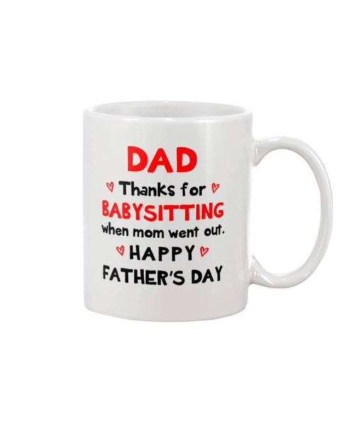 Dad Thanks for Babysitting When Mom Went Out, Happy Father's Day - Happy Father's Day 2020