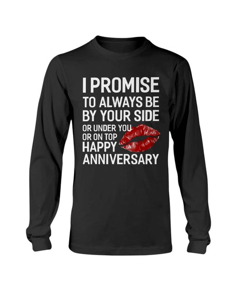 Couples Shirt I Promise To Be Your Side - Not The Worst Gift